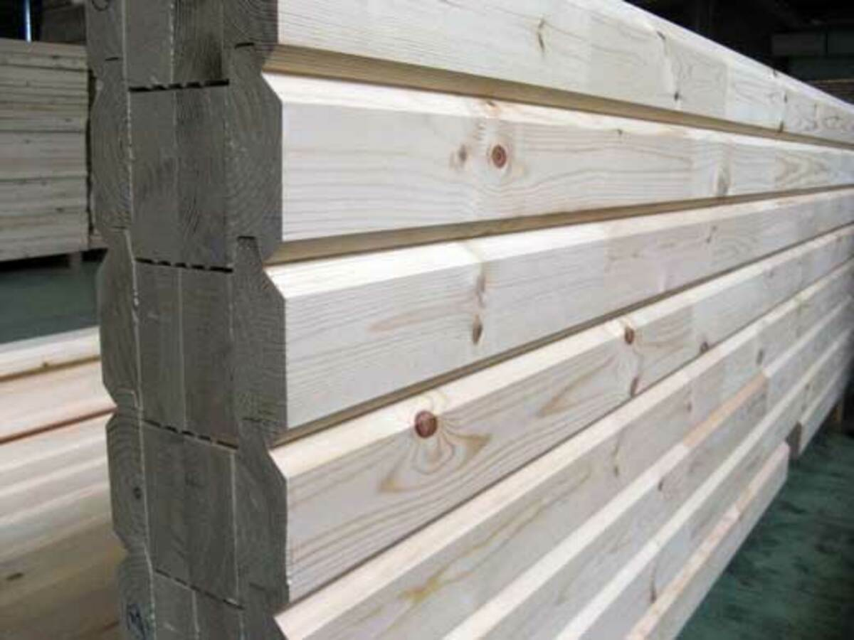 Log house wall 1200px