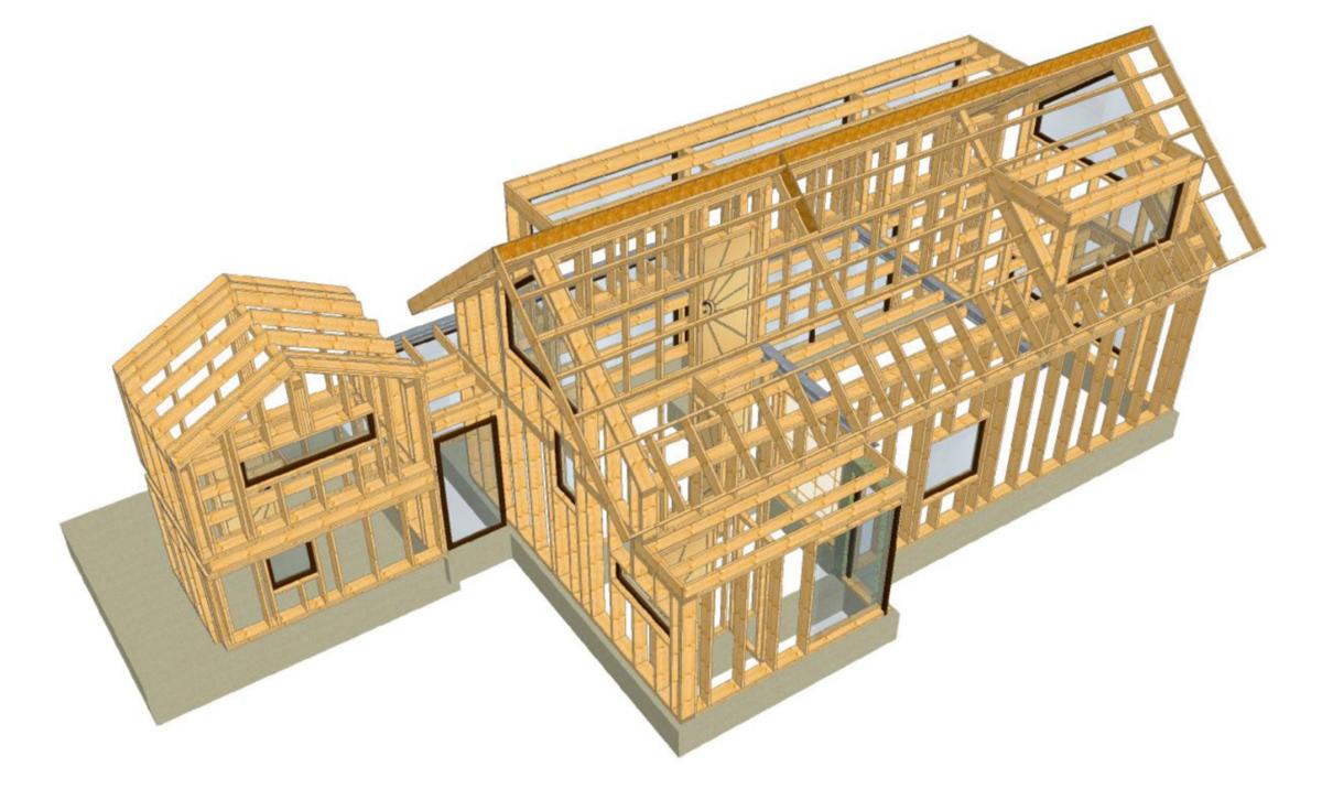 Panel house 3d model 1200px